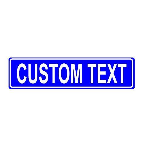 Custom 6x24 Blue Aluminum Road Sign (Custom Signs Metal)