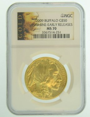 (2009 American Gold Buffalo Coins $50 MS70 NGC)