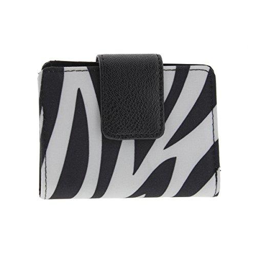 Kenneth Cole Reaction Womens Zebra Print Photo Bifold Wallet (Kenneth Cole Bi Fold Wallet)