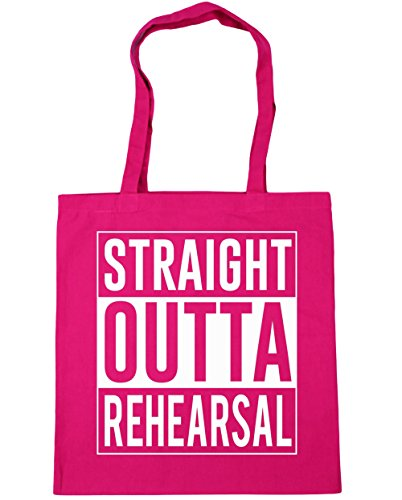 Bag Tote Shopping Beach Straight Outta Rehearsal Fuchsia litres 10 Gym HippoWarehouse 42cm x38cm gR0BB
