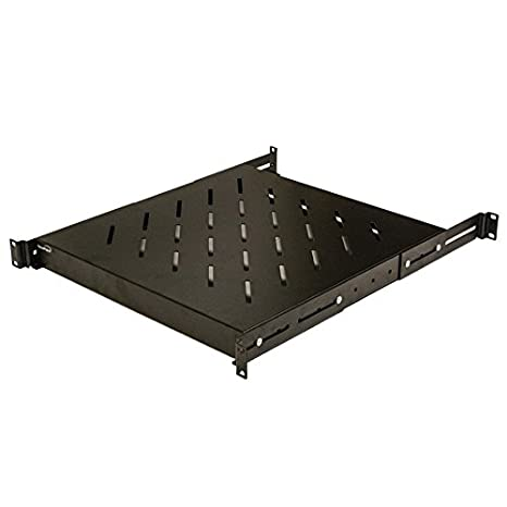 Fabulous Navepoint 1U 19 Inch Fixed 4 Post Rack Mount Server Shelf With Adjustable Depth From 18 29 Inch Black Home Interior And Landscaping Dextoversignezvosmurscom