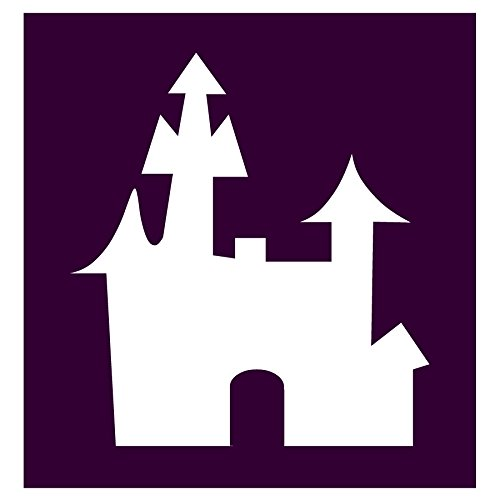 Auto Vynamics - STENCIL-WITCH-CASTLE - Haunted Castle/House Individual Stencil from Detailed Witches & Witchcraft Stencil Set! - 10-by-10-inch Sheet - Single -