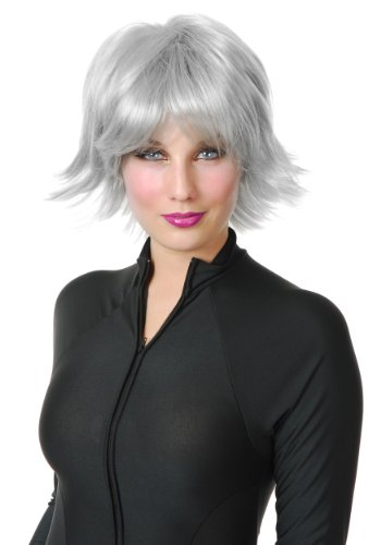 Halloween Storm Costumes Xmen (X-Men Storm Gray Wig)