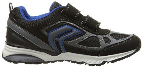 Geox J Bernie F, Zapatillas para Niños Schwarz (BLACK/ROYALC0245)