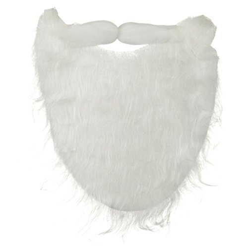 White Full Beard and Mustache Costume (White Costumes Mustache And Beard)