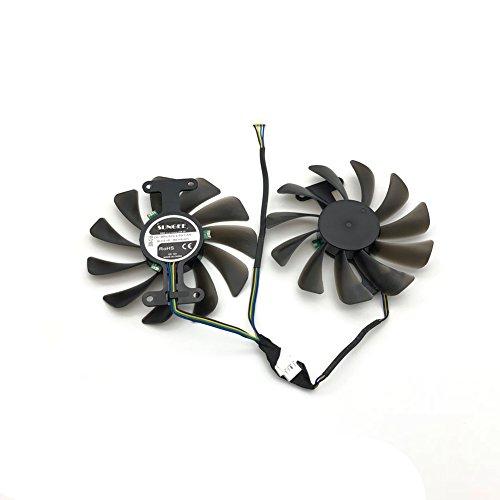 2pcs/lot GF10012H12SPA 0.5A video cards cooler GTX1080 GPU fan For zotac GeForce GTX 1080 AMP Graphics Card GPU cooling by Z.N.Z (Image #2)
