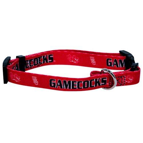 """South Carolina Gamecocks NCAA Dog Collar L: 18-26"""" length, 1"""" width"""