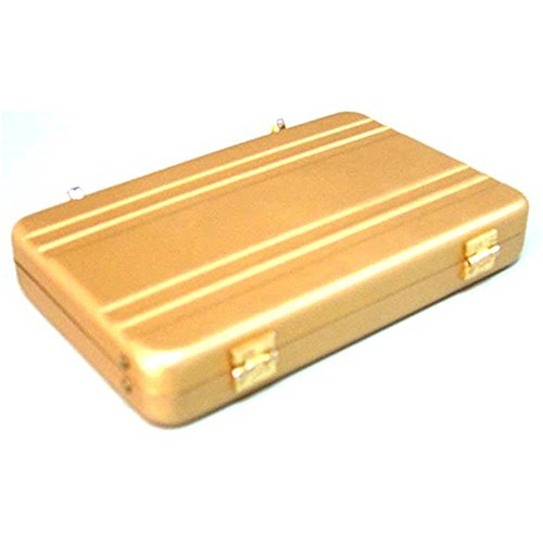 Cool Metal Password Briefcase Business Card Bank Card ID Card Credit Card Holder Case Name Card Storage Organizer (Golden)