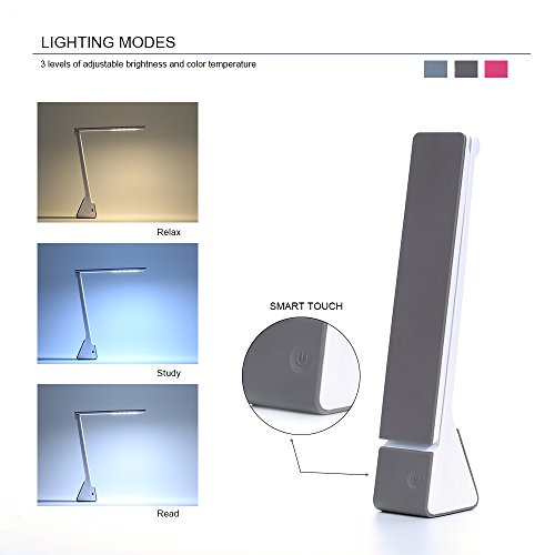 KQRNS Led Desk Lamp With USB Charging Port Table Lamp