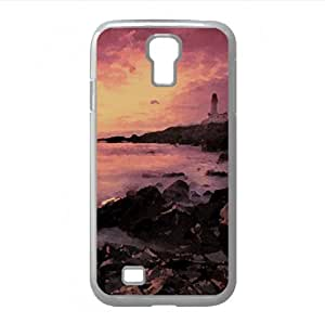 Scarlet Sunset Watercolor style Cover Samsung Galaxy S4 I9500 Case (Beach Watercolor style Cover Samsung Galaxy S4 I9500 Case)