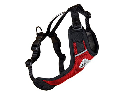 RC Pet Products Canine Friendly Vest Dog Harness V.2, Car Restraint Harness, XLarge, Red by RC Pet Products
