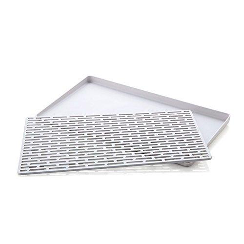 Sundarling Dish Rack Kitchen Dish Drain Board for Pots, Pans, Glasses, Bowls, ()