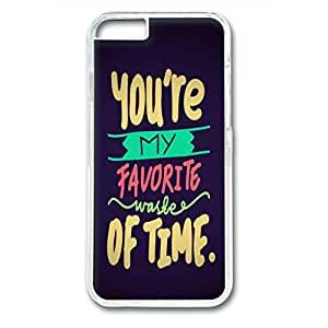 Iphone 6 Plus PC Hard Shell Case Favorite Waste Of Time Transparent Skin by Sallylotus