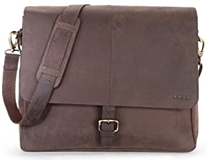 LEABAGS Glendale genuine buffalo leather messenger bag in vintage style