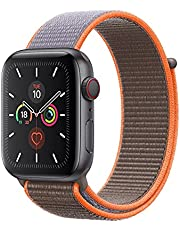 Nylon Loop Band for Apple Watch 40mm / 38mm Series 1/2/3/4 Replacement Strap Mesh Soft Sports Wristband Bracelet - Bright Orange