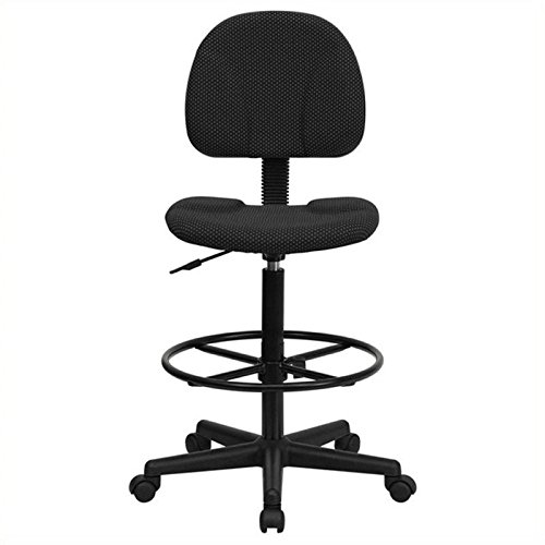 Scranton and Co Patterned Ergonomic Drafting Chair in Black