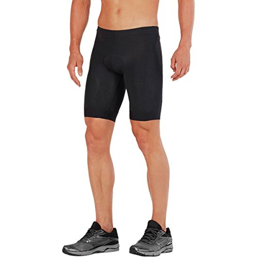 2XU Men's Compression Triathlon Shorts, Black, Medium