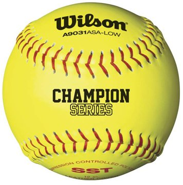 Wilson A9131ASA Series Softball (12-Pack), 12-Inch, Optic Yellow by Wilson