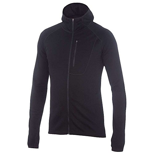 Ibex outdoor Clothing Merino Wool Shak Hoodoo Hoody, Black, Small by Ibex
