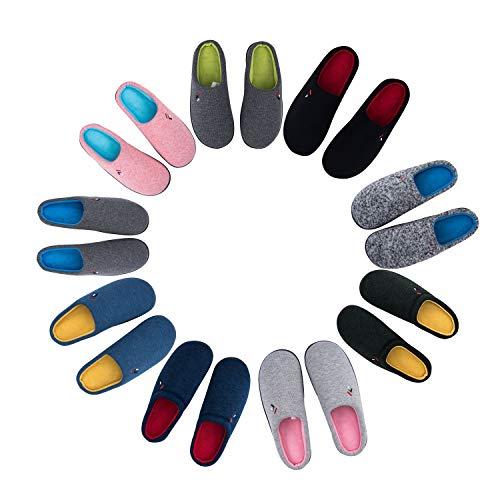 Resistance Mens Foottech Cotton Memory Skid Cozy Foam Soft House on Shoes Slippers Slip Black 7ZUZw