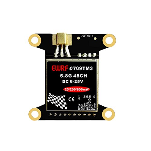 FPV Transmitter 5.8G 48CH 25mW/200mW/600mW AV Adjustable With Mounting Holes for F3/F4 Racing Drone Quadcopter by Crazepony