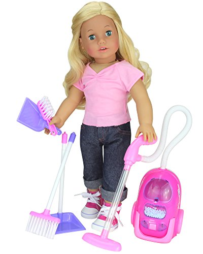 "Price comparison product image Doll Accessories for Cleaning / 18"" Doll Sized Vacuum,  Broom,  Dust Pan and Brush by Sophia's"