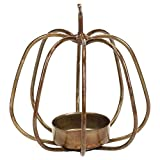Honey & Me 4'' x 4'' Metal Pumpkin Shaped Tea Light Candle Holder