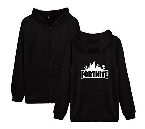Black2 Aivosen E Uomini Sweatshirts Pile Felpa Unisex Fortnite Invernale Cappotto Allentato Donne Con Casual Per Zip Outwear aSqar