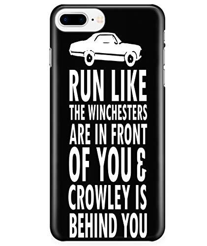 iPhone 7 Plus/7s Plus/8 Plus Case, Run Like The Winchesters Case for Apple iPhone 7 Plus/7s Plus/8 Plus, Supernatural Winchester iPhone Case (iPhone 7 Plus/7s Plus/8 Plus Case - Black)