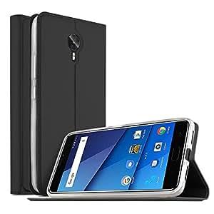 BLU VIVO 8 case, KuGi BLU VIVO 8 case, ultra-thin BW style PU Cover + TPU Back stand Case For BLU VIVO 8 smartphone(Black)