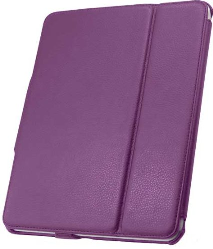Unlimited Cellular 888-0002-PUR Leather Flip Book Case & Folio for Apple iPad 1st Generation, - Ca 888
