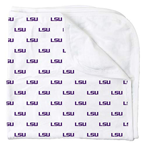(Wes and Willy LSU Tigers Louisiana State Banket Organic Cotton Baby Blanket)