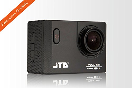JTD J-EXP 2.0 Premium Sport DV Action Camera 12MP 1080P 170 Degree Angle Anti-Glare Coating Lens Sport Camera Waterproof Cam DV Camcorder Outdoor for Bicycle Motorcycle Diving Swimming (Black) by JTD
