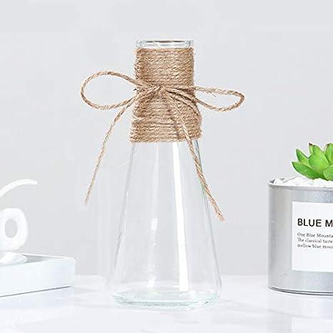 SUGERYY flores artificiales Jarr/ón de cristal de c/á/ñamo simple y transparente a1 A1 el producto no contiene plantas y flores dise/ño de flores secas decoraci/ón del hogar