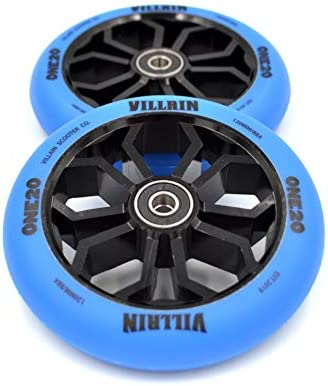 Villain ONE20 Scooter Wheels 120mm Replacement Wheels Black /& Blue Pro Scooter Wheels 120mm x 24mm