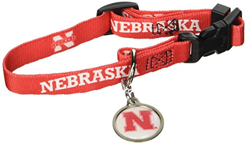 Hunter University of Nebraska Pet Combo Set (Collar, Lead, ID Tag), X-Small