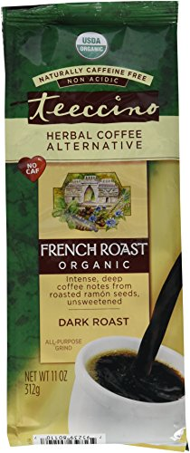 Teeccino Organic Caffeine Free Herbal Coffee, Maya French Roast, 11-Ounce Bags (Pack of 3)