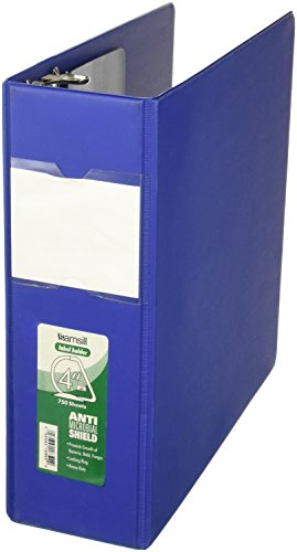Samsill 4-Inch Clean Touch Antimicrobial D-Ring Binder with
