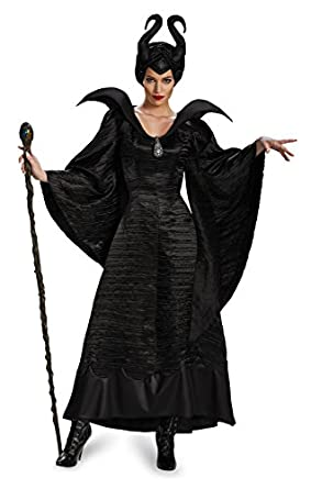 black witch sorceress evil villain woman disney maleficent costume adult