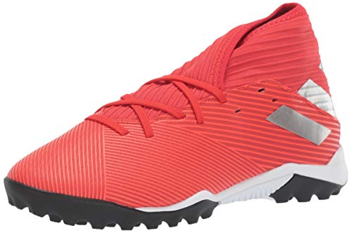 (adidas Men's Nemeziz 19.3 Turf Soccer Shoe, Active Silver Metallic/Solar Red, 6.5 M US)