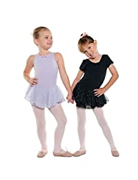 Danshuz Little Girl Lavender Tank Dots Skirt Ballet Leotard Size 2-10