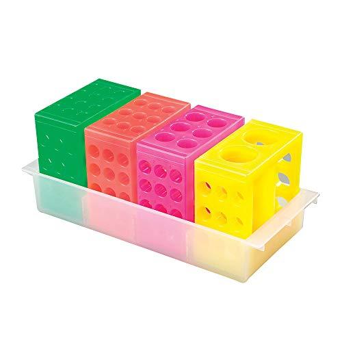Flipper Rack - 4-Way Flipper Rack, Assorted Colors, 4 Racks/Unit