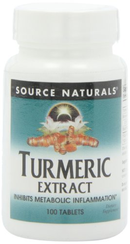 Source Naturals Turmeric Extract 350mg 95% Curcumin Inhibits Metabolic Inflammation - Herbal Antioxidant with Bioperine Supports Healthy Infammatory Response and Joint Pain Releif - 100 Tablets (Pack of 2)
