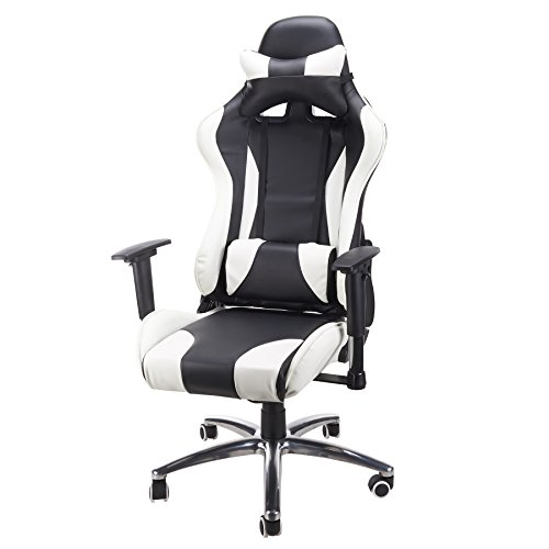 41fJsyM%2BcNL - Tek-Motion-Adjustable-Recliner-High-Back-Silent-Swivel-Wheels-PC-Gaming-Desk-Chairs