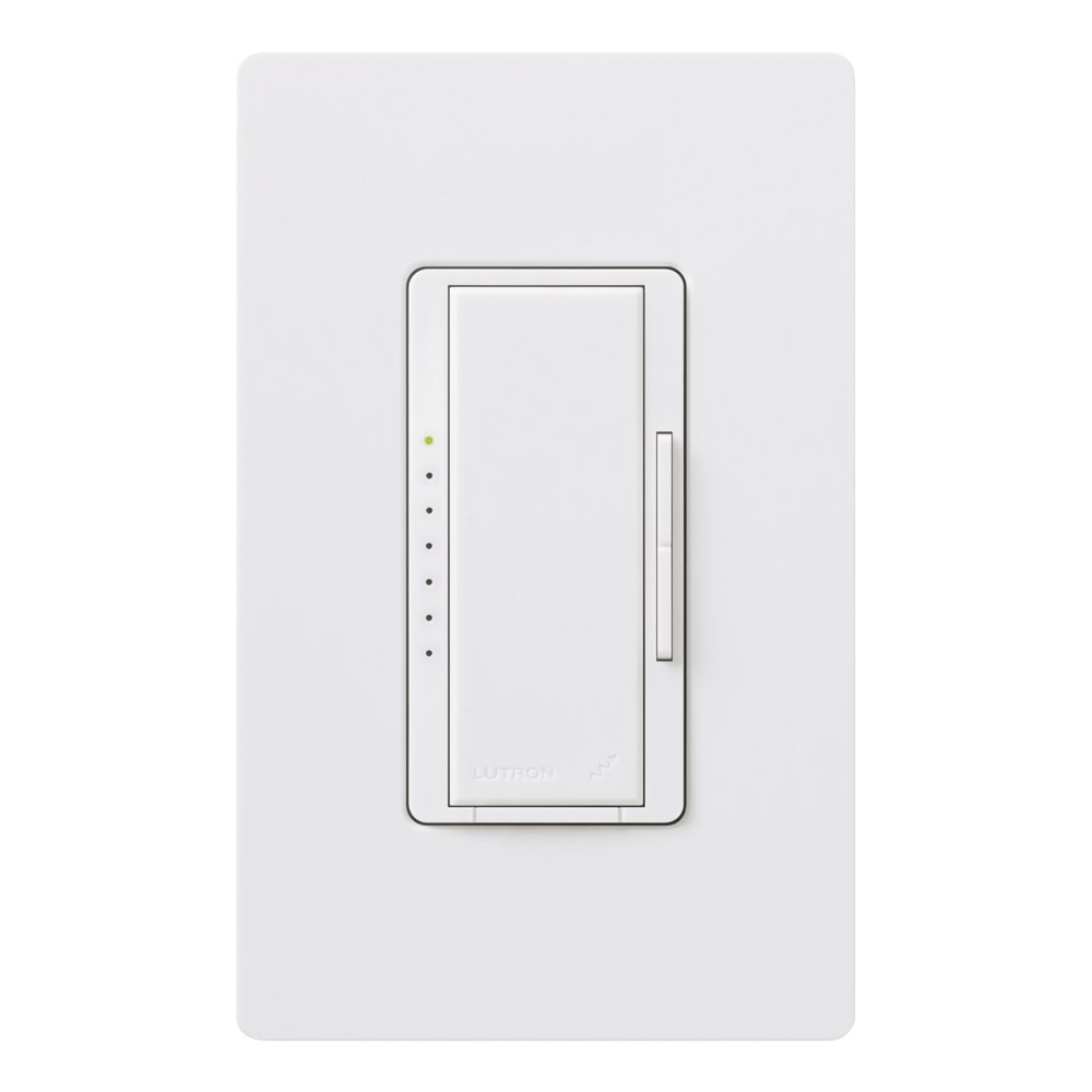 Lutron MRF2-6ELV-120-WH Maestro Wireless Electronic Low Voltage Digital Fade Dimmer, White