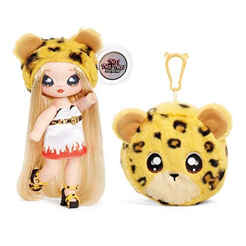 Na! Na! Na! Surprise 2-In-1 Fashion Doll and Plush Purse Muñecas de Moda 2 en 1 Coleccionables Para Niñas-Jennel Jaguar…