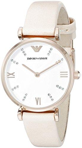 (Emporio Armani Women's  AR1927 Retro Blush Leather Watch)