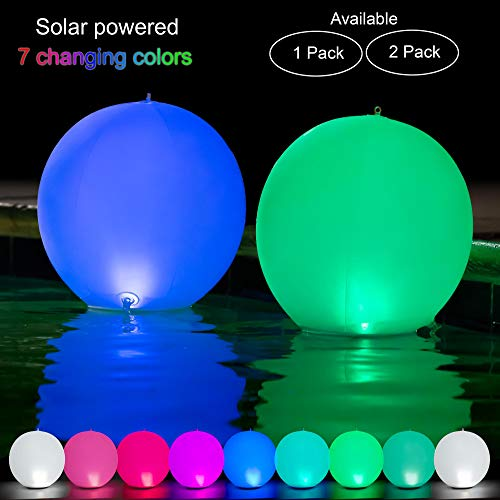 Outdoor Solar Color Changing Led Floating Lights Ball in US - 8