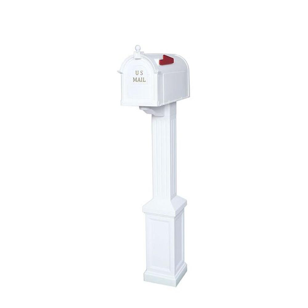 Postal Pro Craftsman Mailbox and Post Kit, White