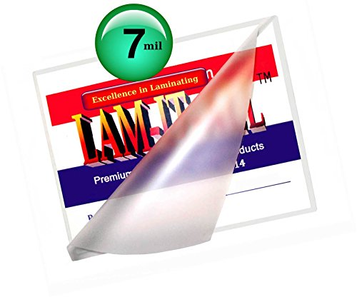 Hot File (7 Mil Hot File Card Laminating Pouches 3-1/2 X 5-1/2 [Pack of 100] by LAM-IT-ALL)